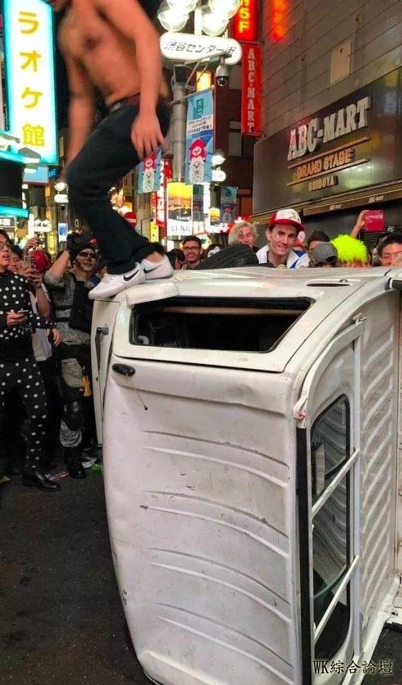 涩谷区长直言明年想收费了!万圣节狂欢到掀货车、教记者搭讪技巧、口吐白沫-6.jpg